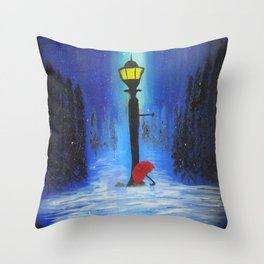 Waiting for Lucy Throw Pillow