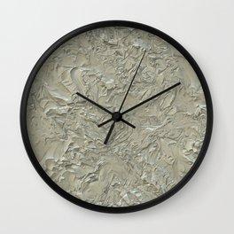 Rough Plastering Wall Clock