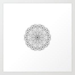 Mandala, Exhibits Radial Balance, Spiritual and Ritual Symbol Art Print