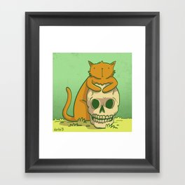 Kitty Hugs Framed Art Print
