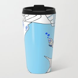Pisces / 12 Signs of the Zodiac Metal Travel Mug