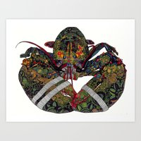 lobster Art Prints featuring Lobster by Aina Serratosa