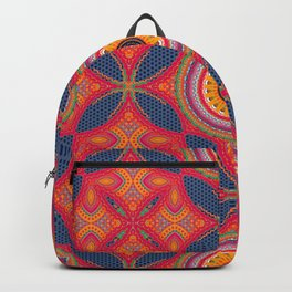 Bright Boho Multi Pattern  Backpack
