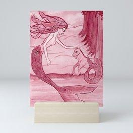Zodiac Mermaid Astrology Capricorn Fantasy Art by Laurie Leigh Mini Art Print