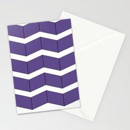 Violet Zig Zag Stationery Cards