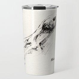 arabian horse head ink art Travel Mug
