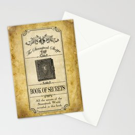 Steampunk Apothecary Shoppe - Book of Secrets Stationery Cards