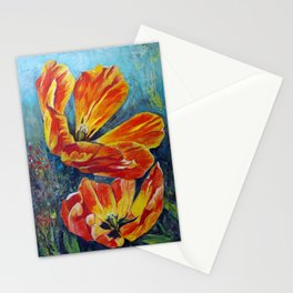 Orange Tulips Stationery Cards