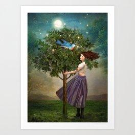 A Bluebirds Song Art Print