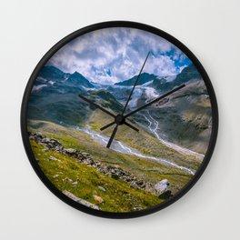 Glacial remains Wall Clock