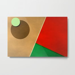 Geometric abstract 2016 / 007 Metal Print