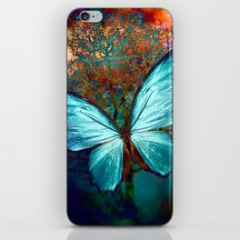 The Blue butterfly iPhone Skin