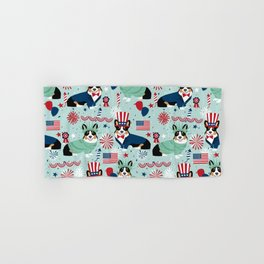 Tri Corgi Fourth of July American Independence Day July 4th Patriotic Corgis Hand & Bath Towel