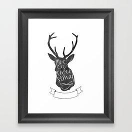 Merry Christmas Deer (3) Framed Art Print