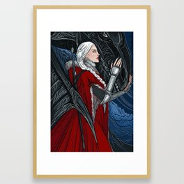 Red witch Framed Art Print