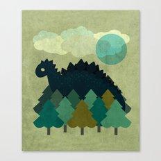 BLUE DINO Canvas Print