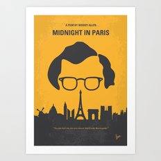 No312 My Midnight in Paris minimal movie poster Art Print