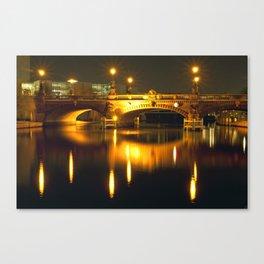Moltke-Bridge at the river Spree in Berlin Canvas Print