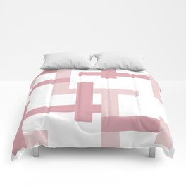 Pink + Dusty Rose | Melrose Abstract Art Comforters