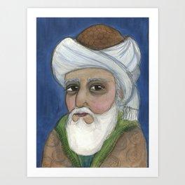"""""""It Is Rumi It Is"""", Rumi Literary Portrait Art Print"""