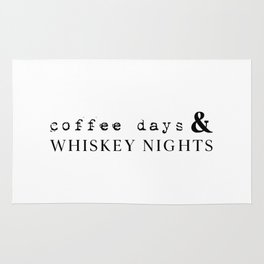 Coffee Days and Whiskey Nights Rug