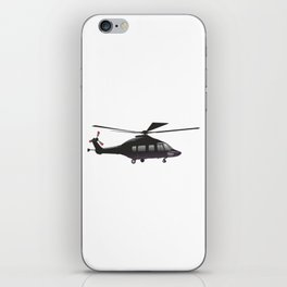 Black European Helicopter iPhone Skin