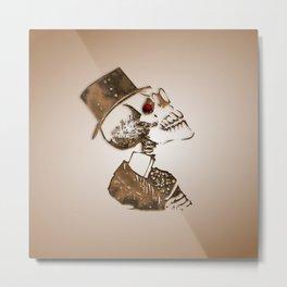 Steampunk Skeleton Metal Print