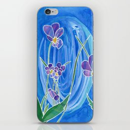 Violet Swirl iPhone Skin