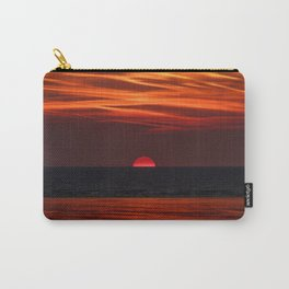 Beautiful image of the sun setting over the water Carry-All Pouch