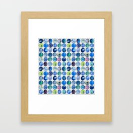 Watercolour Circles - Multicolour Framed Art Print