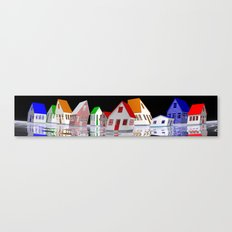 my little houses Canvas Print