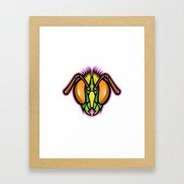 Honey Bee Mascot Framed Art Print