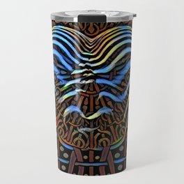 7852s-KMA_4972 Abstract Feminine Booty in Blue Stripes Travel Mug