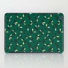 loves me loves me not pattern - hunter green iPad Case