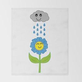 Happy Rain Throw Blanket