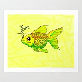 """Charlie"" GONZA Fish Art Print"