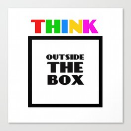 Think Outside The Box 3 Canvas Print