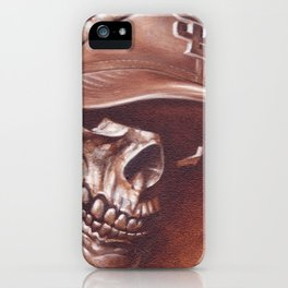 skull and cap iPhone Case