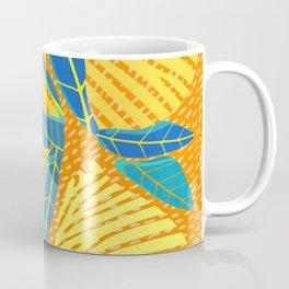 Striped Lemons - Whimsical Fruit Design Coffee Mug