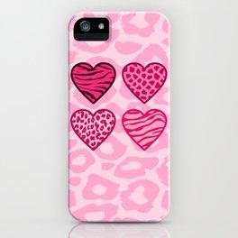 Wild hearts iPhone Case