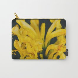 Beautiful yellow flower on black background Carry-All Pouch