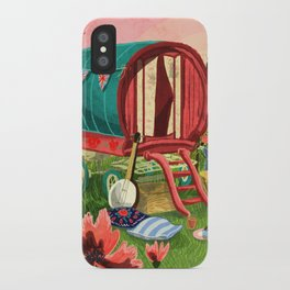 Gypsy Caravan at Sunset iPhone Case