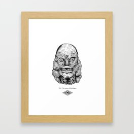 The creature of black lagoon Framed Art Print