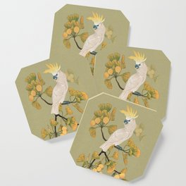 Cockatoo and Ginkgo Tree Coaster