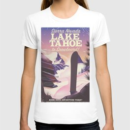 Lake Tahoe Sierra Nevada Snowboarding T-shirt