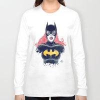 batgirl Long Sleeve T-shirts featuring Batgirl by Alejandro Pinpon