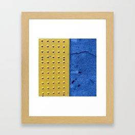 Street art yellow and blue Framed Art Print