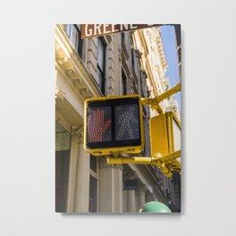 New York Traffic Light | Brooklyn Manhattan Bridge USA America Photo Print | pastel - travel - photography - Art print Metal Print
