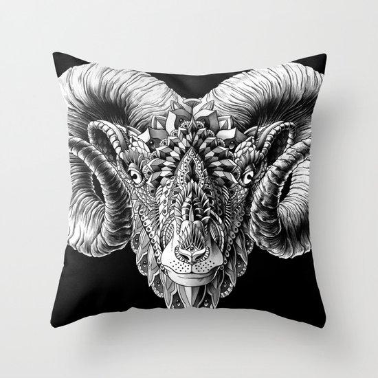 Ram Head Throw Pillow