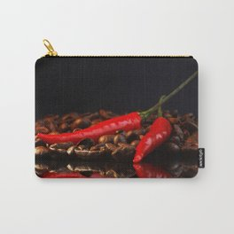 Chili on coffee beans in the mirror design Carry-All Pouch